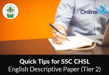 Quick Tips for SSC CHSL English Descriptive Paper (Tier 2)