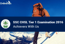 SSC CHSL Tier 1 Examination 2016: Achievers With Us