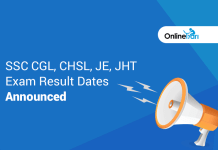 SSC CGL, CHSL, JE, JHT Exam result dates announced: Check Official Notice