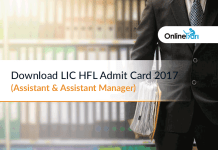 Download LIC HFL Admit Card 2017 (Assistant & Assistant Manager)
