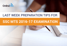 Last Week Preparation Tips for SSC MTS 2016-17 Examination