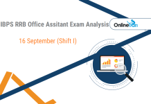 IBPS RRB Assistant Prelims Exam Analysis, 16th September Shift 1