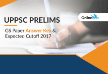 UPPSC Prelims GS Paper Answer Key and Expected Cutoff 2017