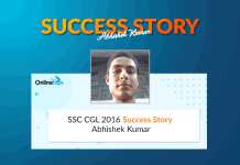 SSC CGL 2016 Success Story: Abhishek Kumar (Auditor in Office CGDA)
