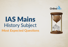 IAS Mains History Subject Most Expected Questions