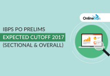 IBPS PO Prelims Expected Cutoff 2017 (Sectional & Overall)