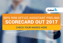 IBPS RRB Office Assistant Prelims Scorecard out 2017: Check your marks here