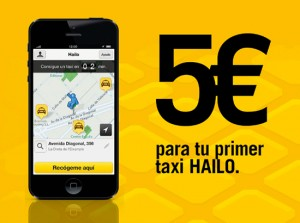 Hailo is offering you 5€ off your next taxi ride
