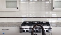 Stacked Tile Backsplash