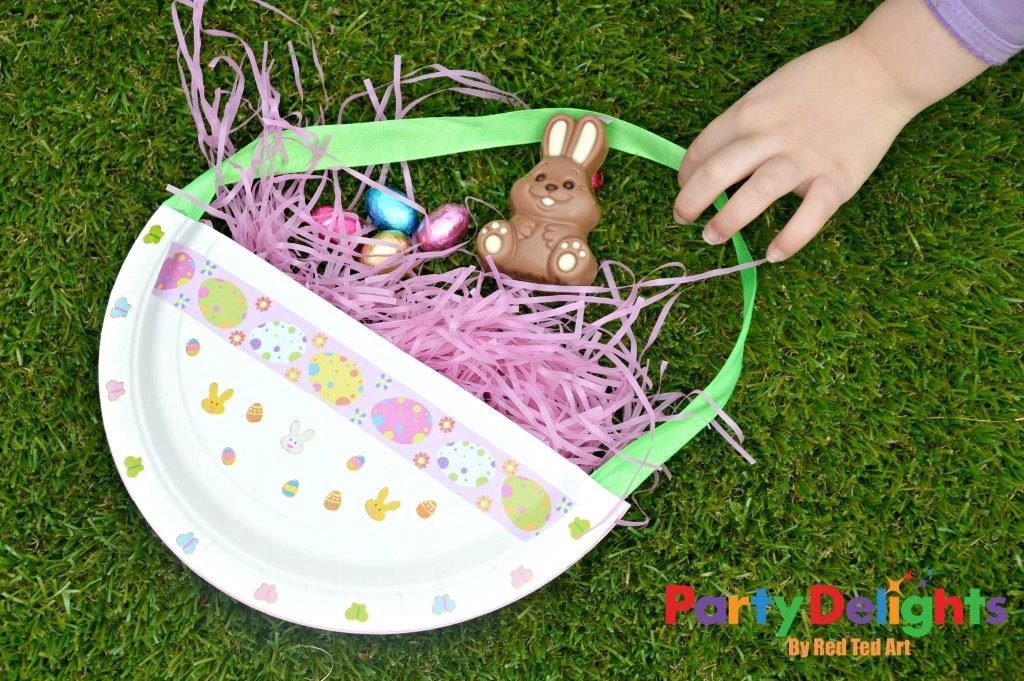 Paper Plate Easter Baskets Easy Easter Craft Party