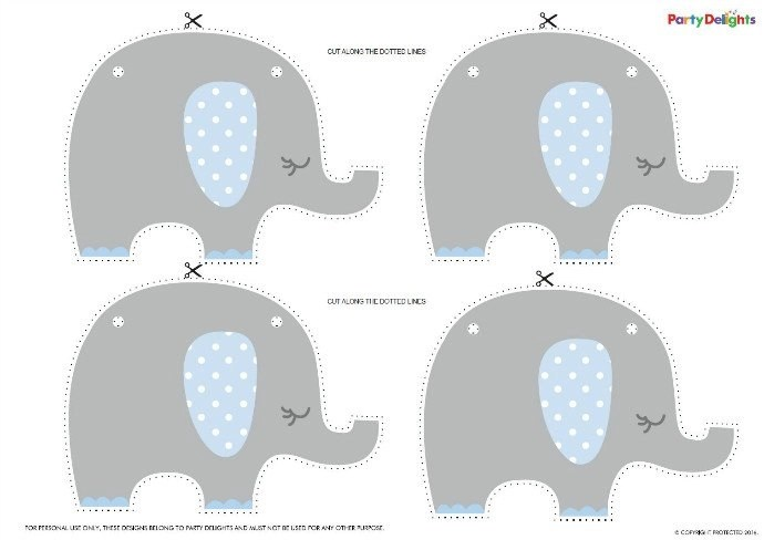 Free Printable Elephant Baby Shower Bunting Party Delights Blog