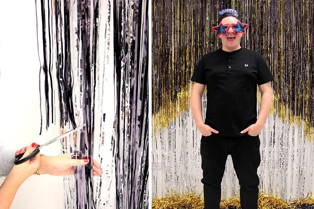 Diy Glitter Photo Booth Backdrop Party Delights Blog