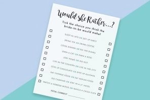 Beautiful Printable Hen Do Game How Well Do You Know The Bride