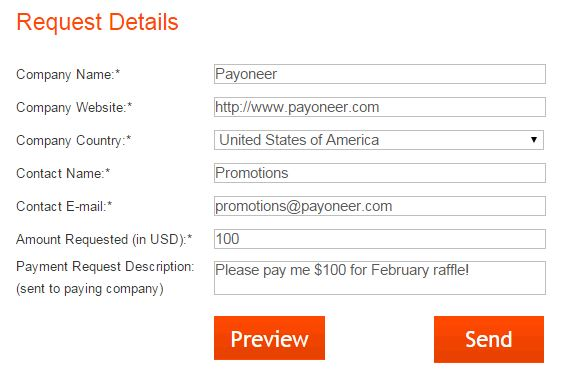 Send a Payment Request to Payoneer for a chance to win $100! - The