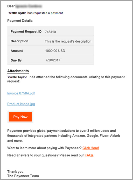 Getting paid by other Payoneer users? Get access to all of - how to invoice a client