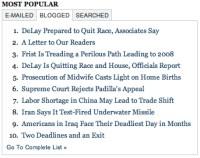 Artigos mais blogados