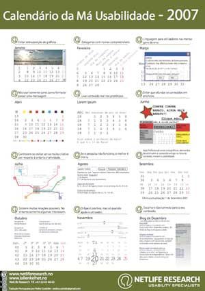 2007 Bad Usability Calendar Portuguese Version
