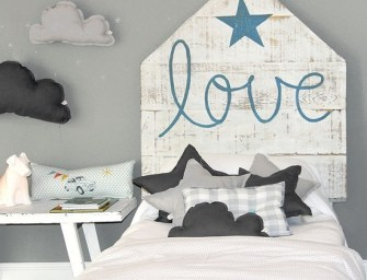 White and Grey Boys Room Ideas