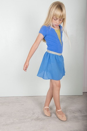 Blue maillot / Blue dance skirt