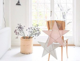 Delicately Illuminate Kids' Room with Numero 74 Ethereal Cotton Star Lanterns