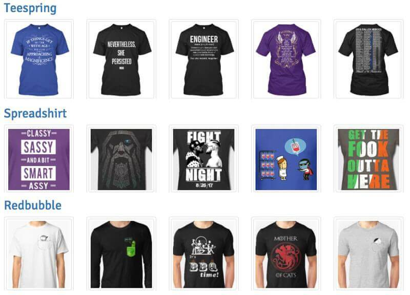 Popular T-Shirt Designs Weekly Chart - Placeit Blog