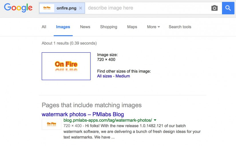 How to find watermarked photos on the Internet with Google Image