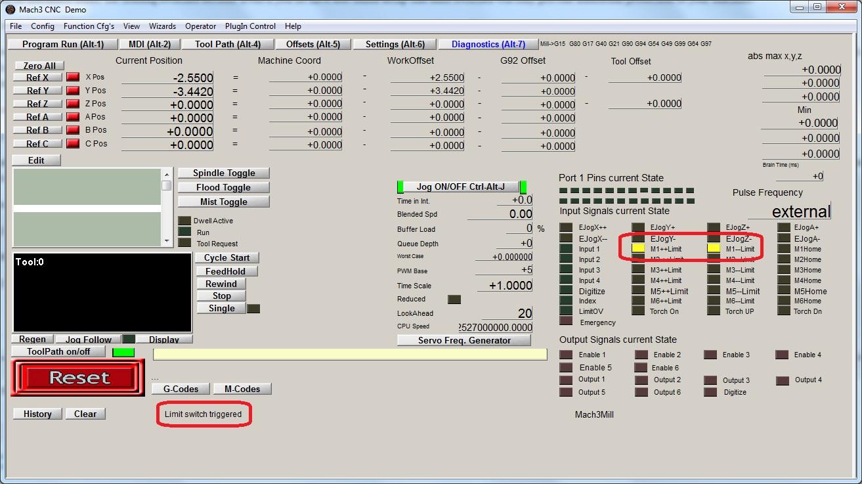 mach3 limit switch wiring