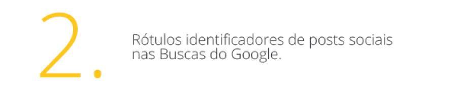 Rótulos identificadores de posts nas buscas do Google