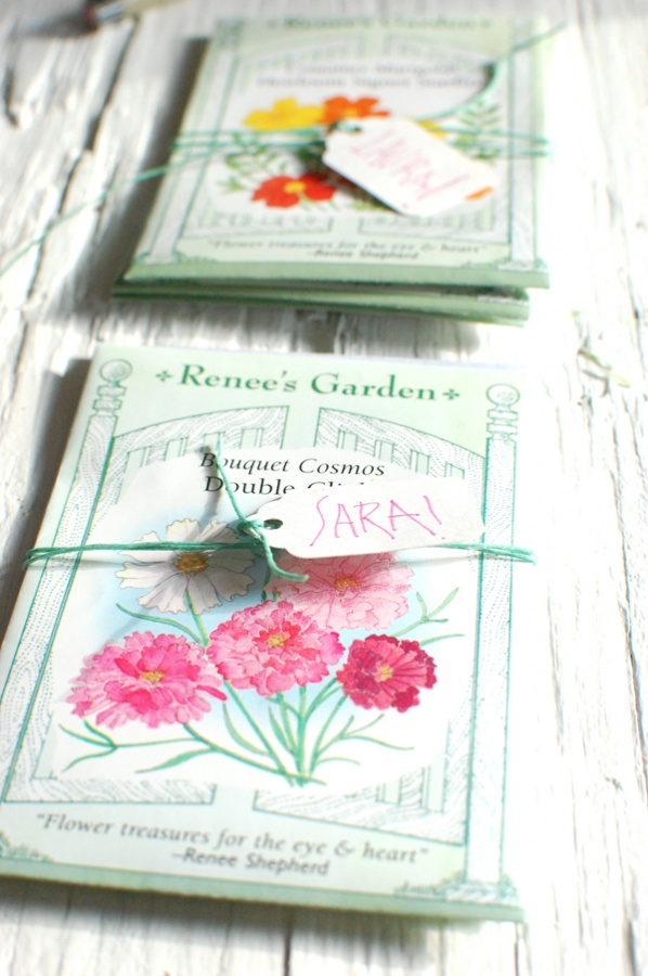 seed-packets-twine-flowers-rustic-table-1