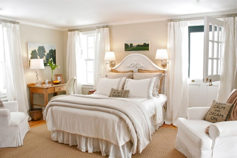the room s serene feel by introducing a warm and inviting color