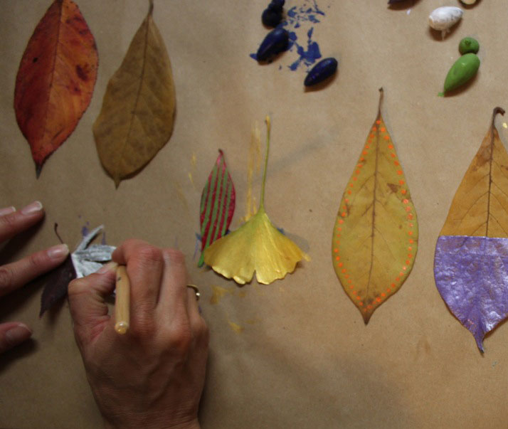 craftnightleafpainting