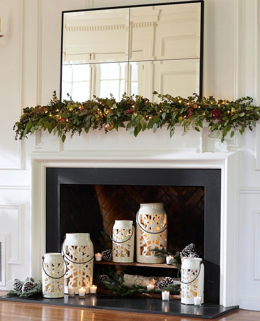 holiday mantel hero copy. Professional Tips for Decorating Your Holiday Mantel   Pottery Barn