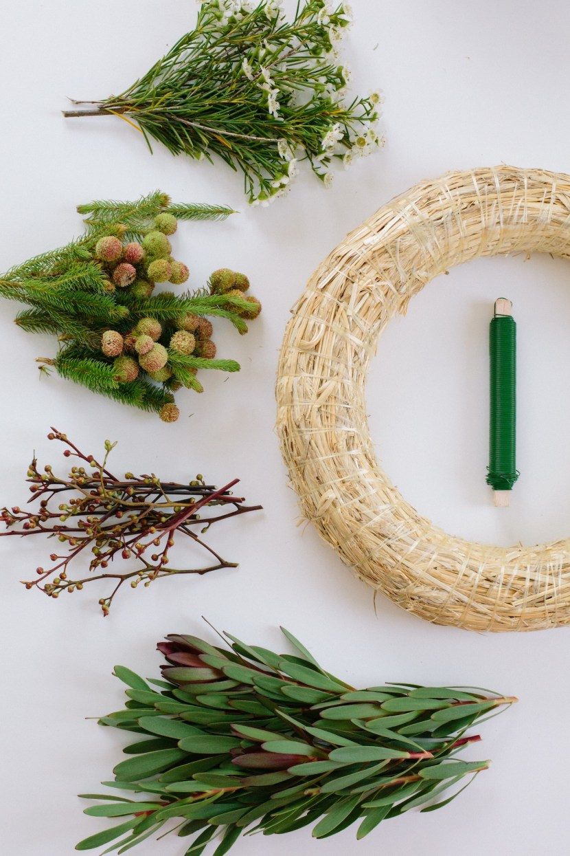 diy wreath materials