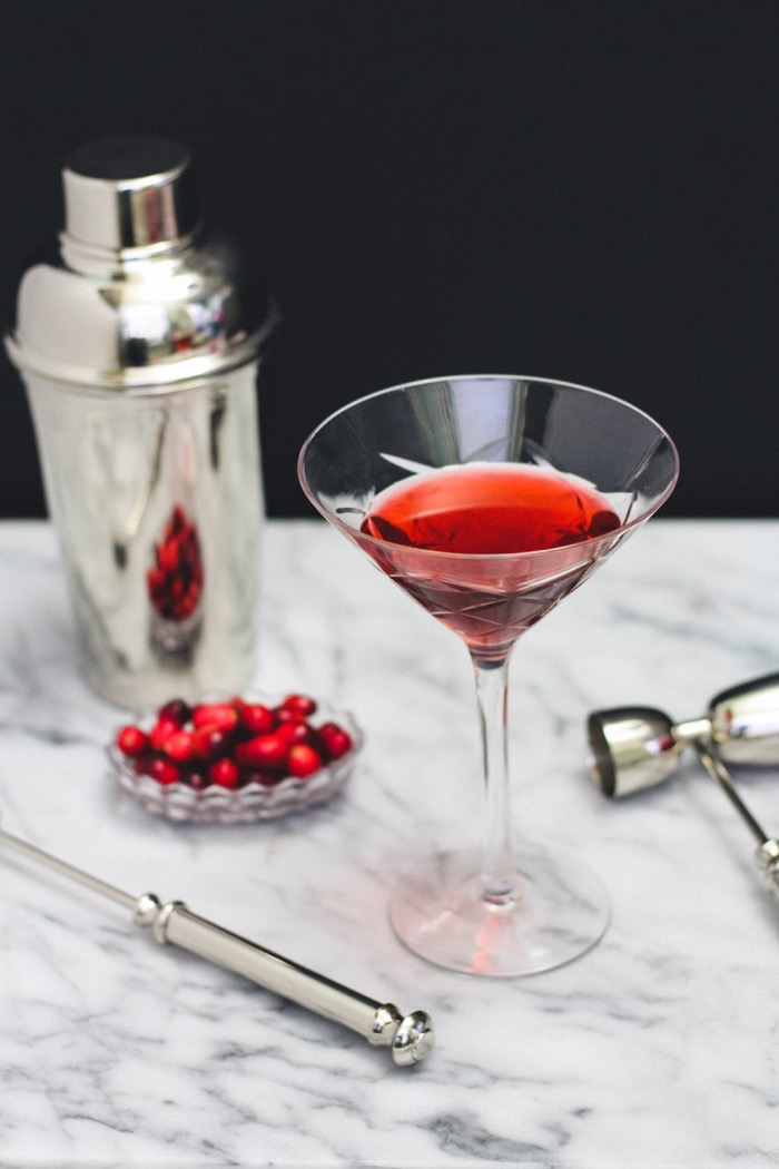 Nicole gibbons 39 cranberry twist on a classic manhattan recipe for Cranberry bitters cocktail recipe