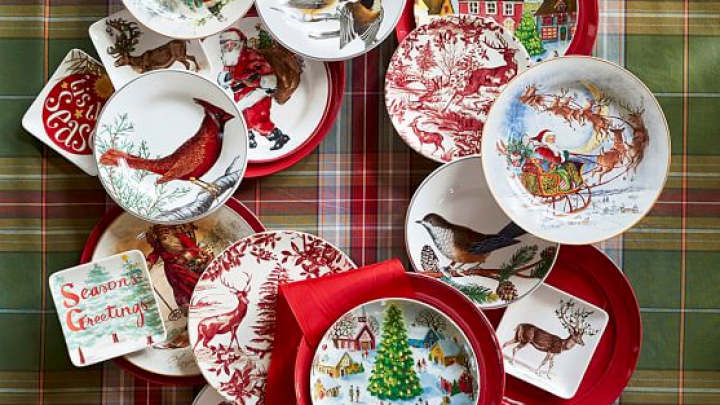 Pottery Barn Holiday Place Settings