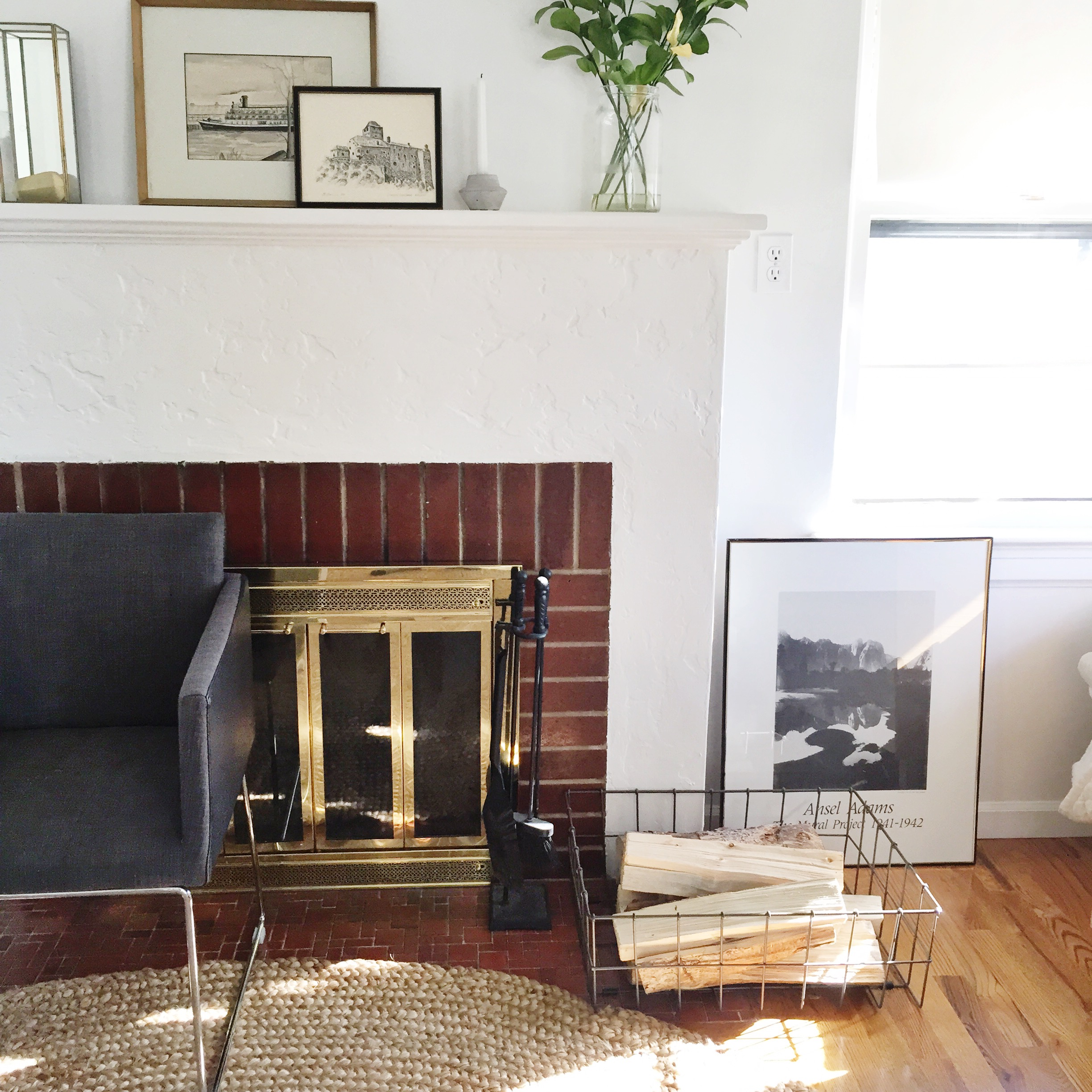 our mirrored pillar box can hold just about any kind of display candles accessories or items from nature we love how kirsten used it on her mantle beautiful living room pillar