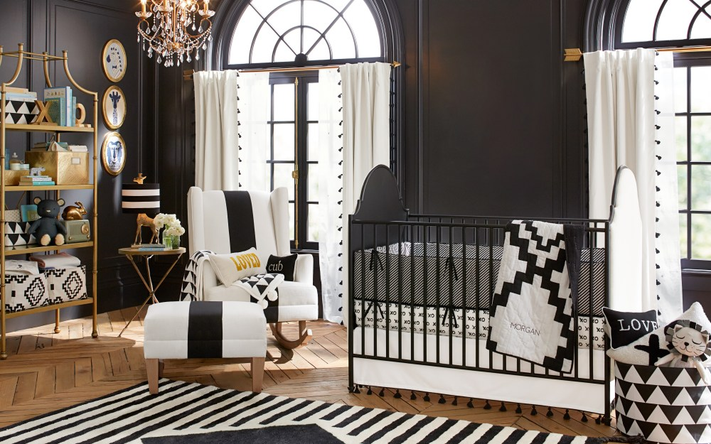 black and white nursery ideas. Black Bedroom Furniture Sets. Home Design Ideas
