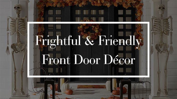 Halloween Front Door Decor