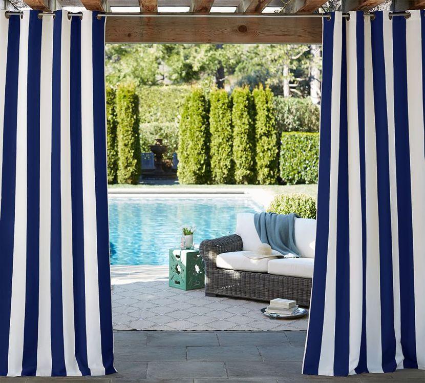 Sunbrella® Indoor/Outdoor Grommet Drape