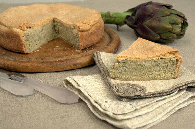 "Torta salata di ""mammaCera"" ai carciofi"