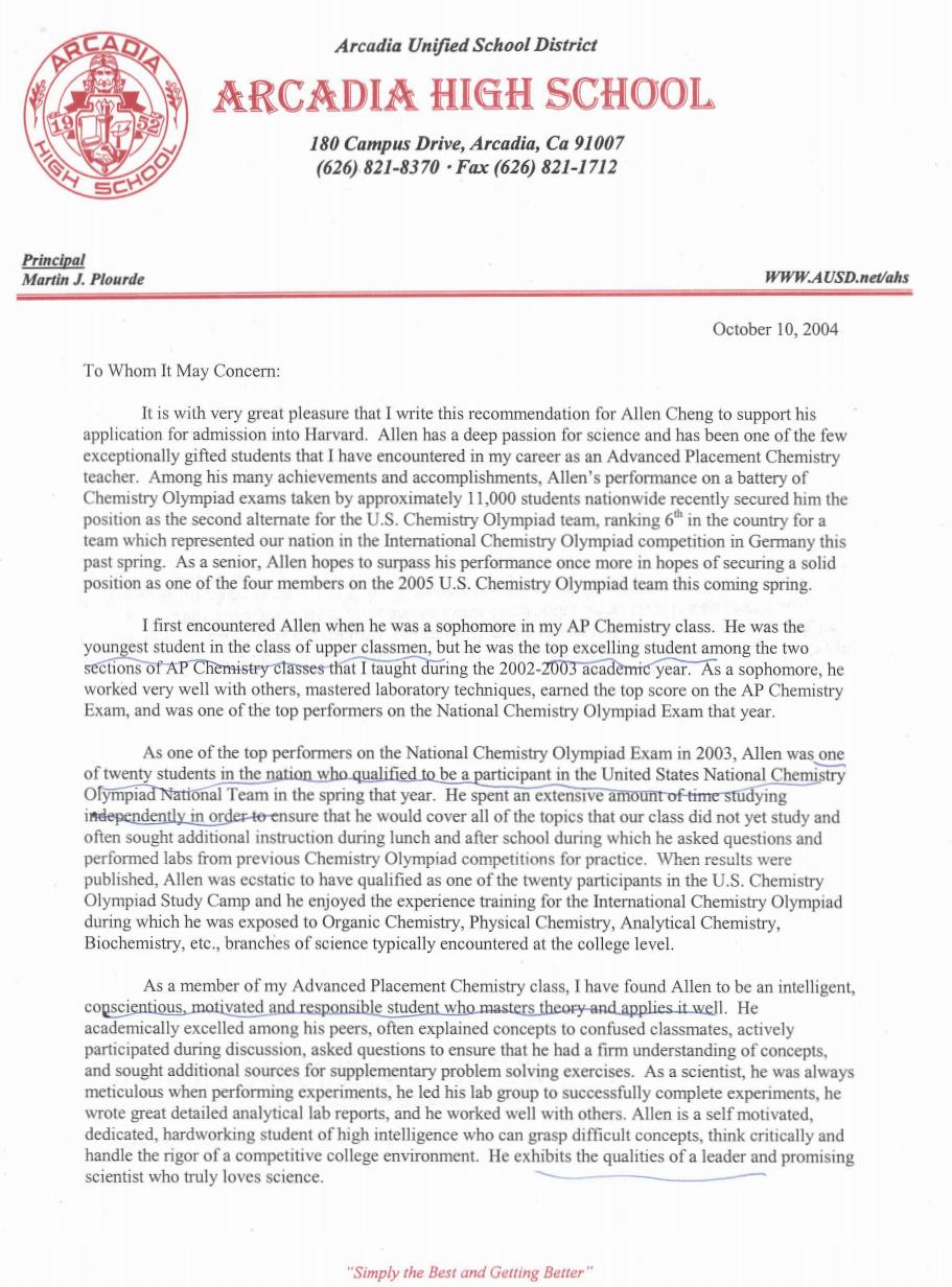 ucla medical school letter of recommendation