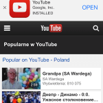 YouTube uses Apple smart banner