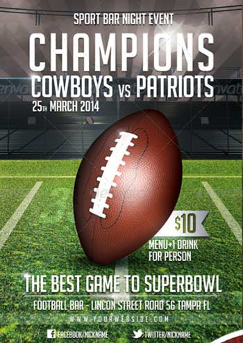 Flyer Designs For That Super Bowl Party (Templates)