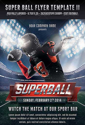 super bowl party flyers templates - Selol-ink