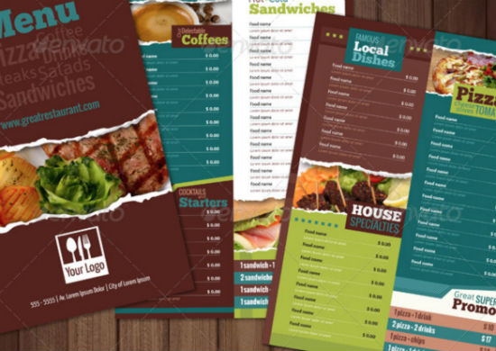 Well Designed Menu Templates For Restaurants In Need - menu design template