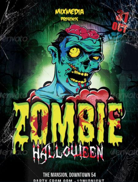 Killer Zombie Flyer Ideas For Halloween - PrintKEG Blog