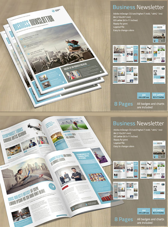 Beautiful Newsletter Print Designs for Businesses - business newsletter