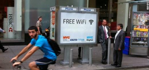 NYC payphone WiFi