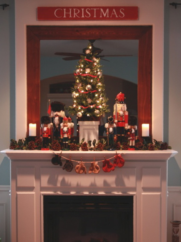 50 Beautiful Fireplaces Mantels To Inspire You This Christmas - christmas decorations for mantels
