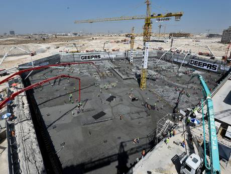 Dubai developer-contractor pours deep for a Guinness record